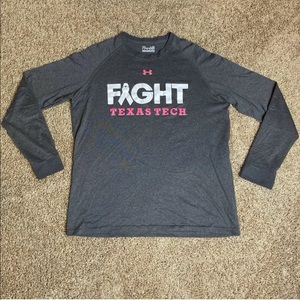 Under Armour Texas Tech Shirt Breast Cancer